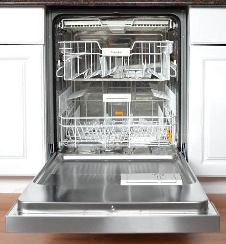 Miele futura crystal g5105scu 24 in built in stainless steel dishwasher review for White dishwasher with stainless steel interior
