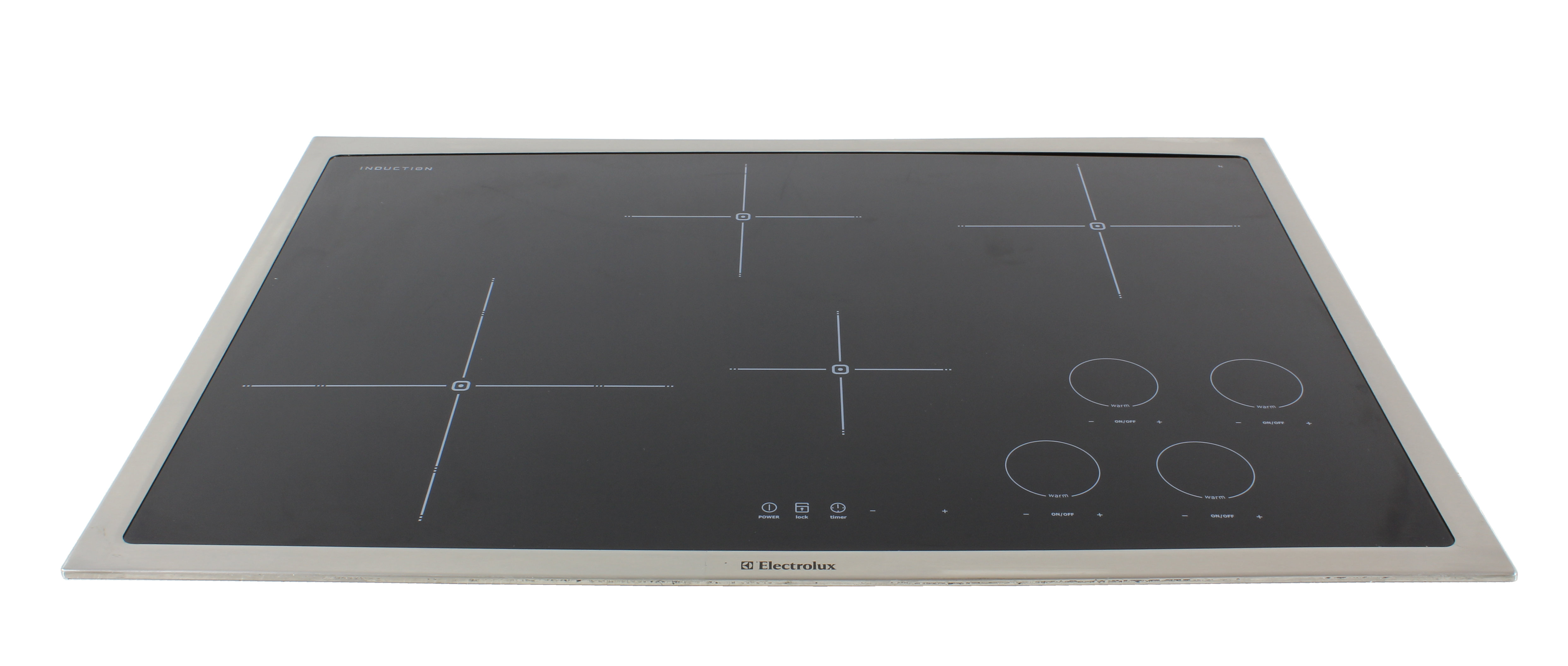 the electrolux ew30ic60ls cooktop features four induction burners