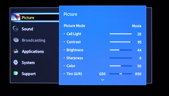 All of the basic picture options are accounted for on the F5300.