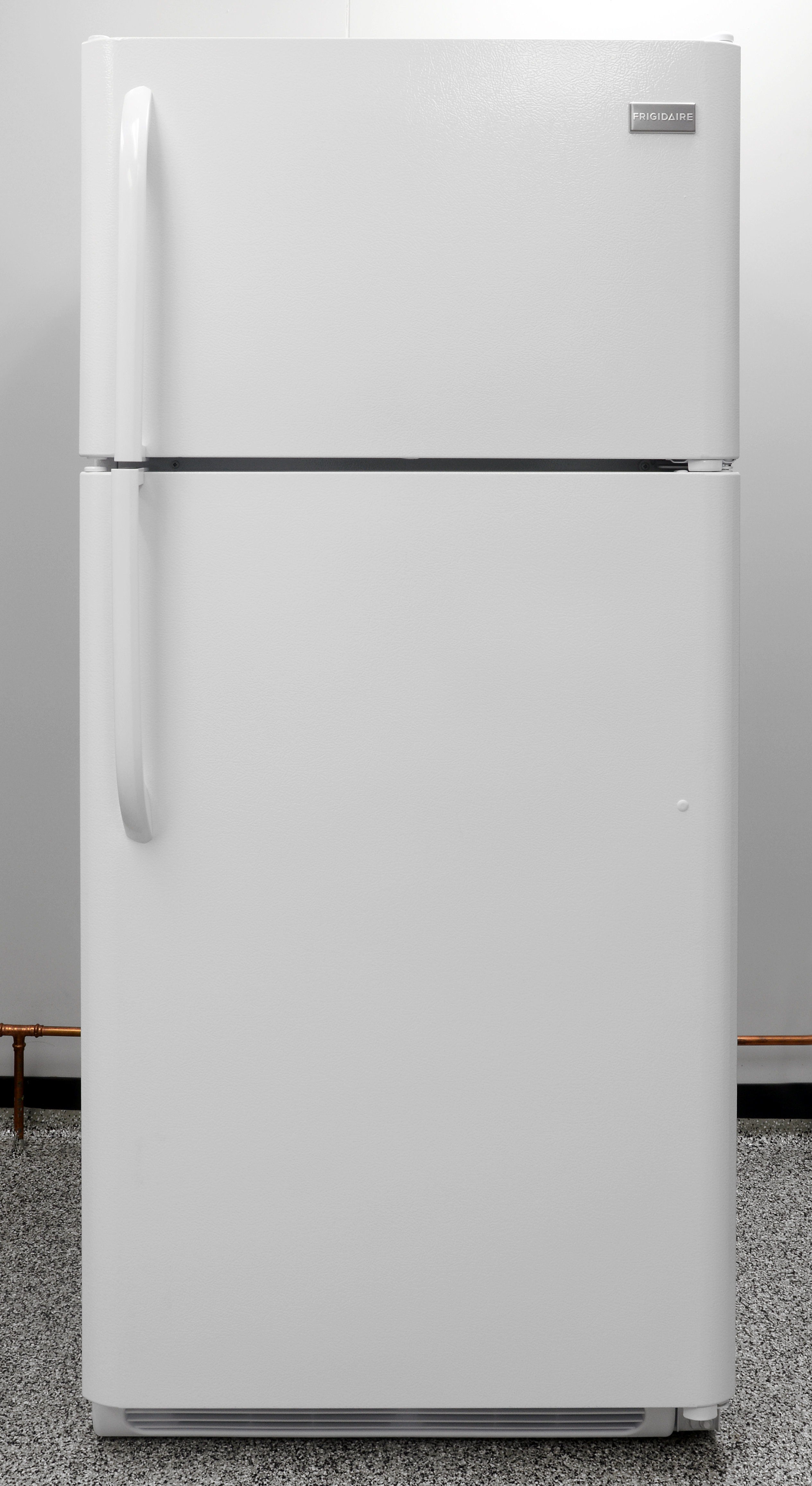 The Frigidaire FFTR1814QW is a basic 18-cubic-foot top freezer.