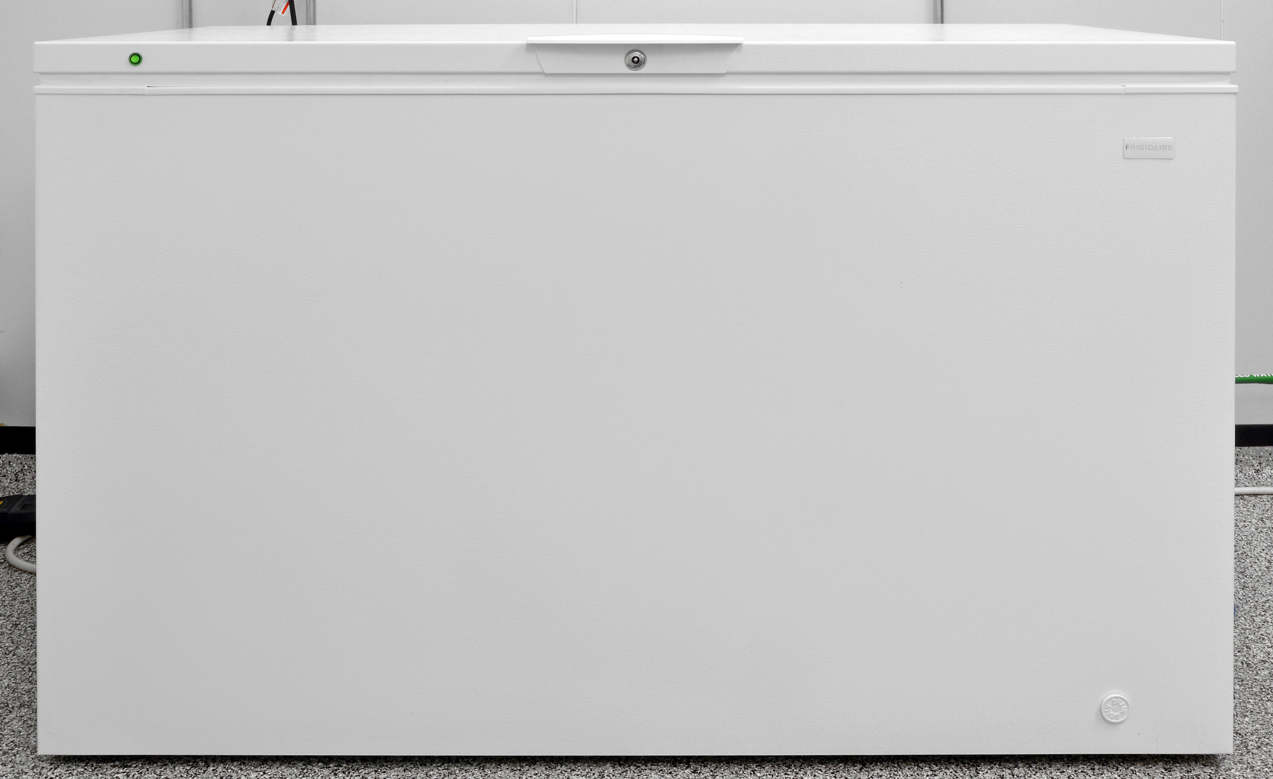 The Frigidaire FFFC16M5QW is a basic chest freezer of moderate size.