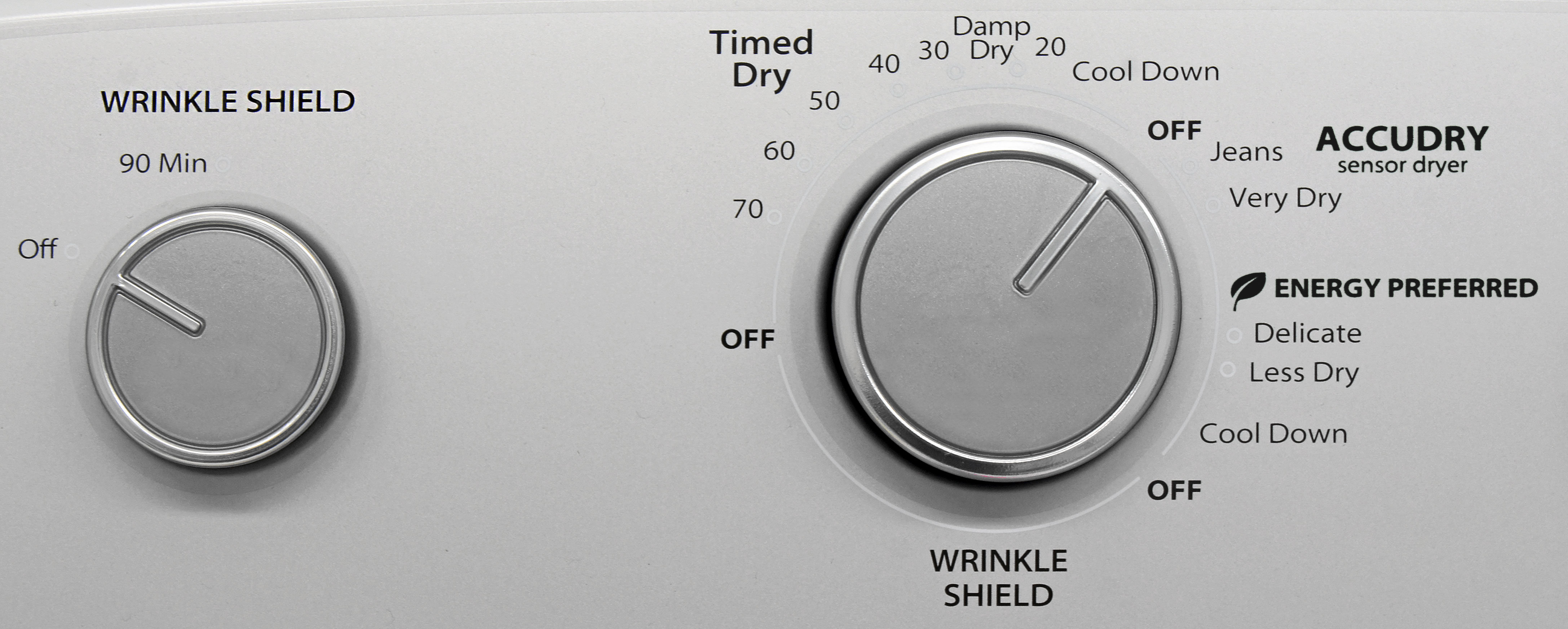 The Whirlpool WED4915EW's rank controls mean choosing a cycle is more of a ballpark guess than a precise selection.