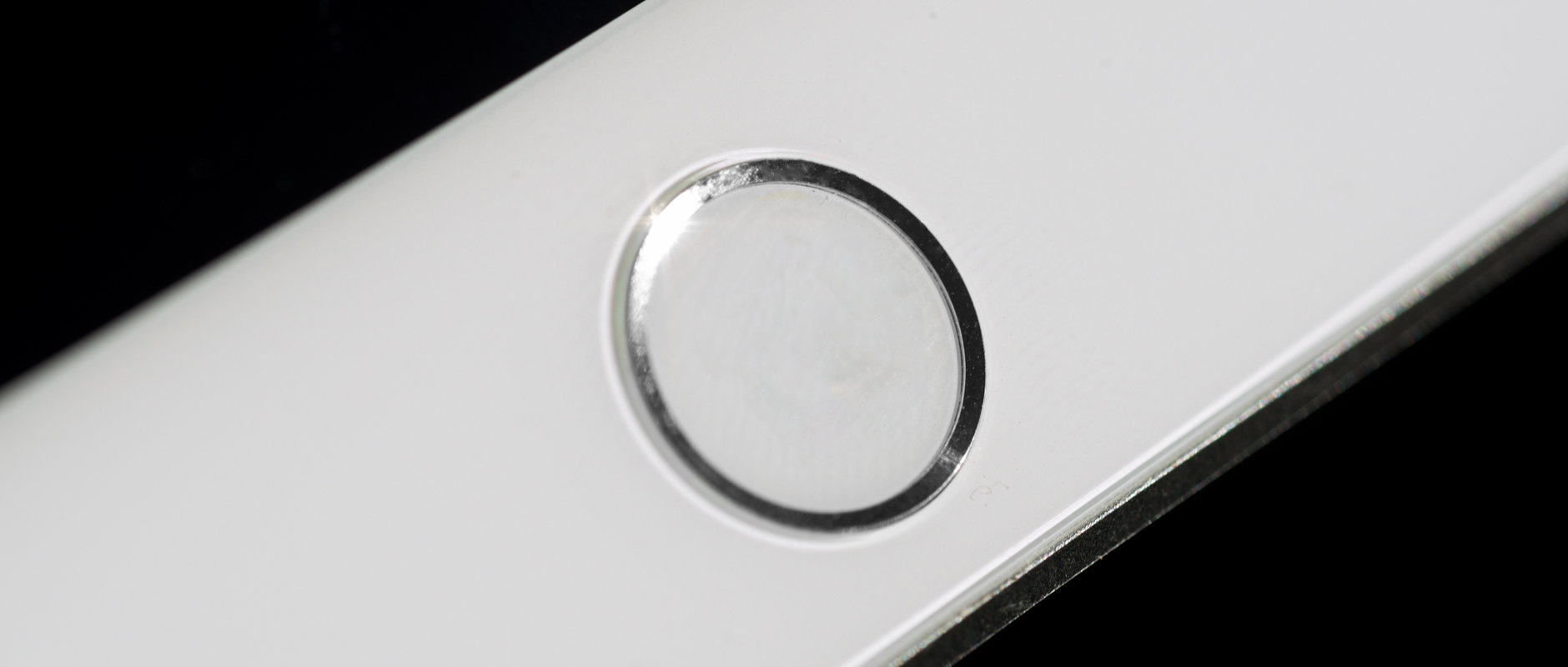 A photo of the Apple iPad mini 3's Touch ID sensor.