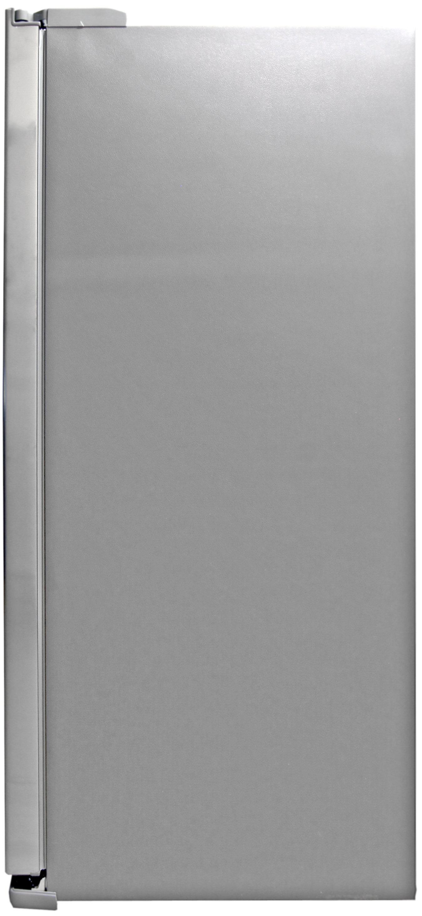 The grey matte sides of the Samsung RS25H5121 complement its stainless front.