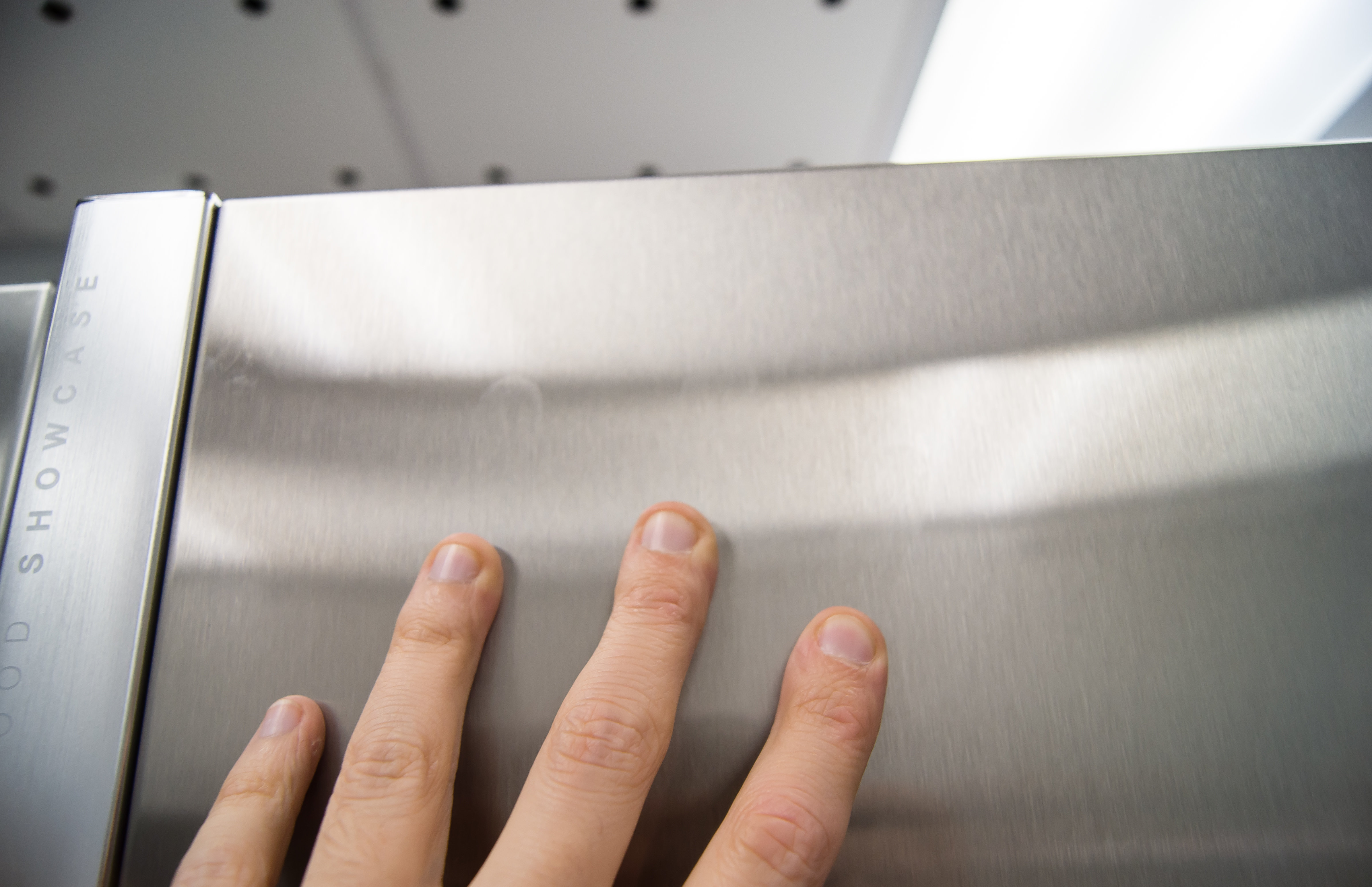 Surprisingly, the Samsung RH29H9000SR Food Showcase's stainless exterior is very resistant to smudging.
