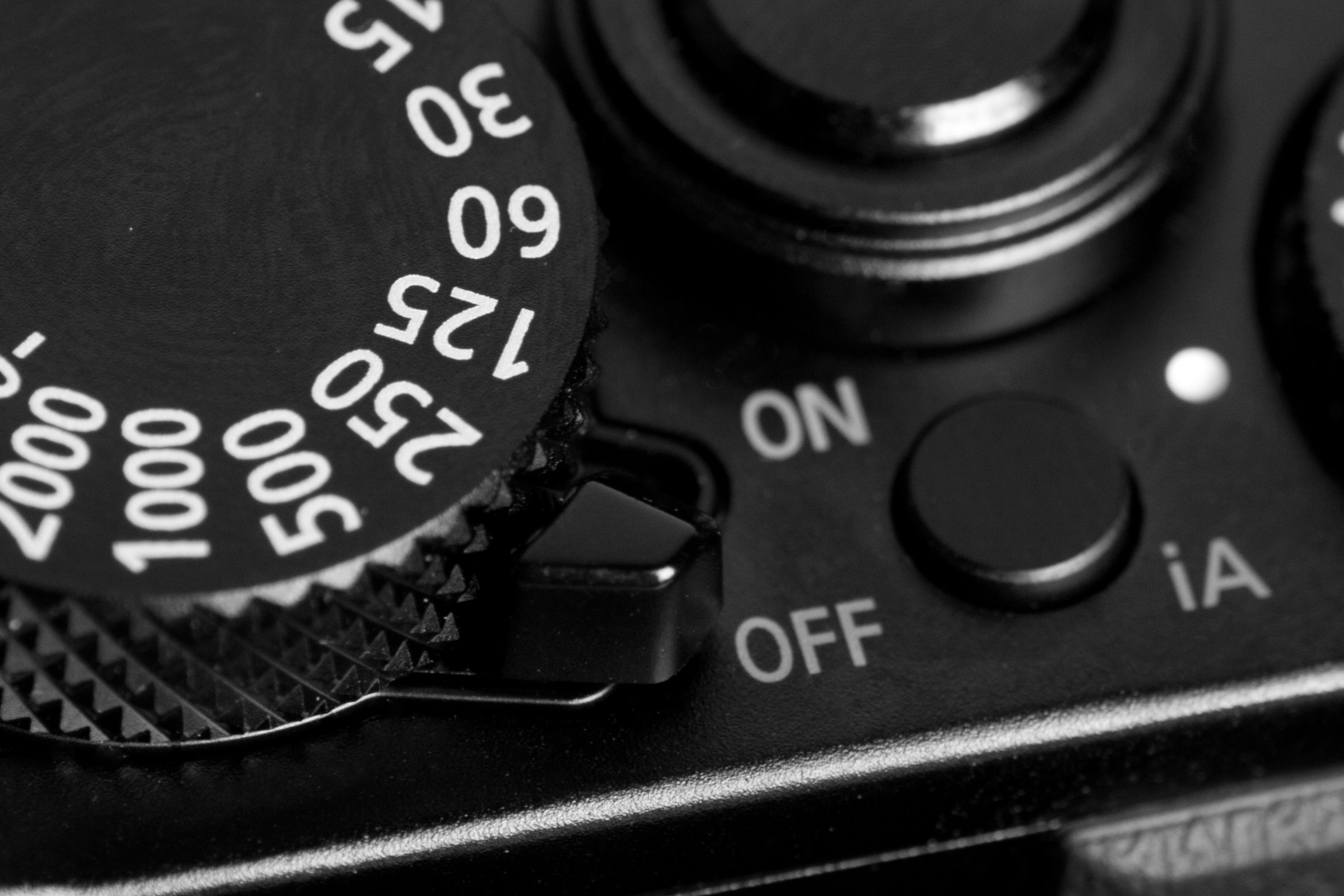 A photograph of the Panasonic Lumix LX100's power switch.