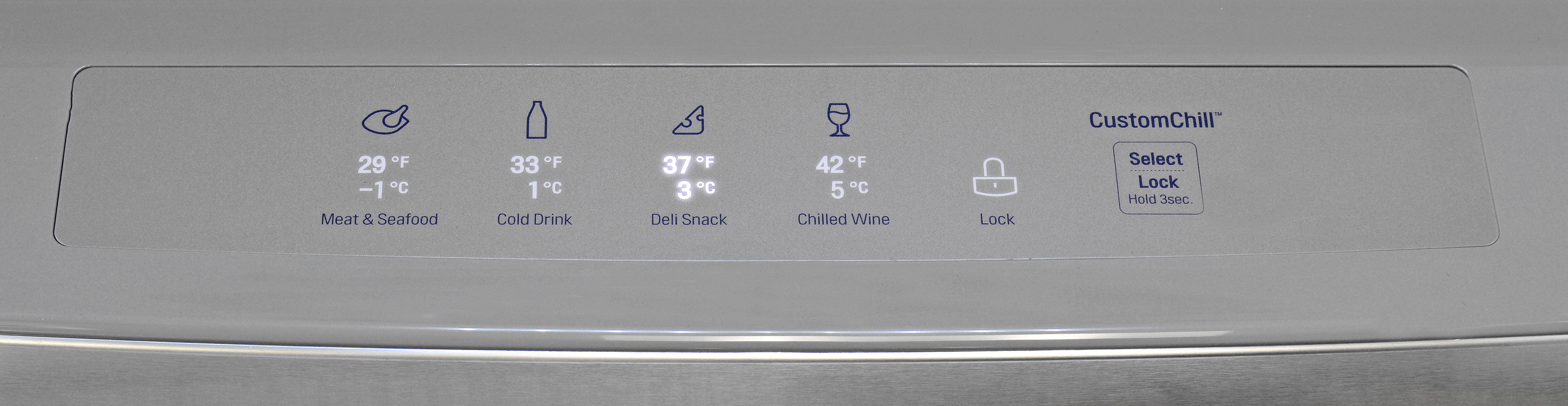 The LG LMXS30786S's central drawer has four distinct temperature settings to fit your needs.