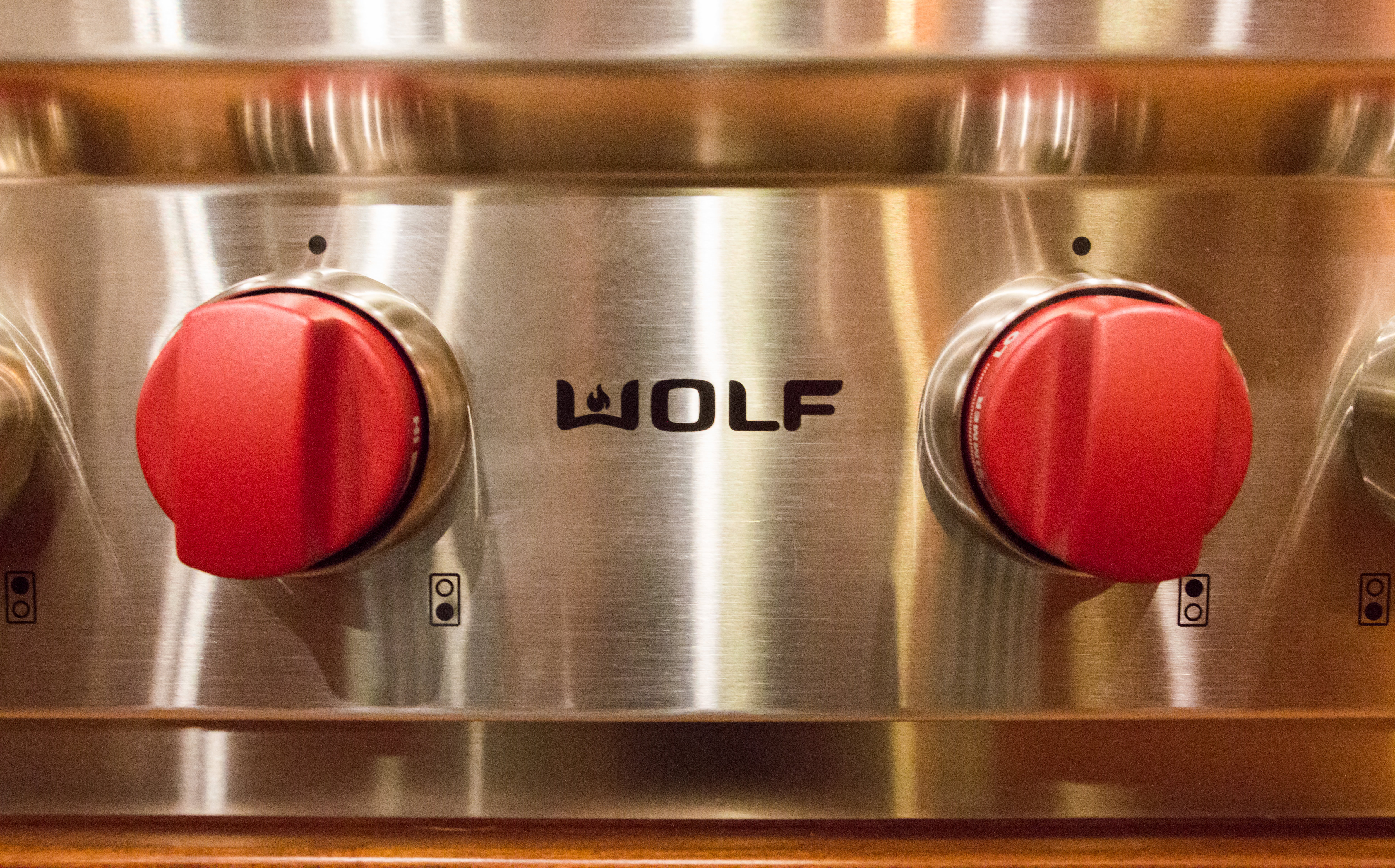 Red control knobs