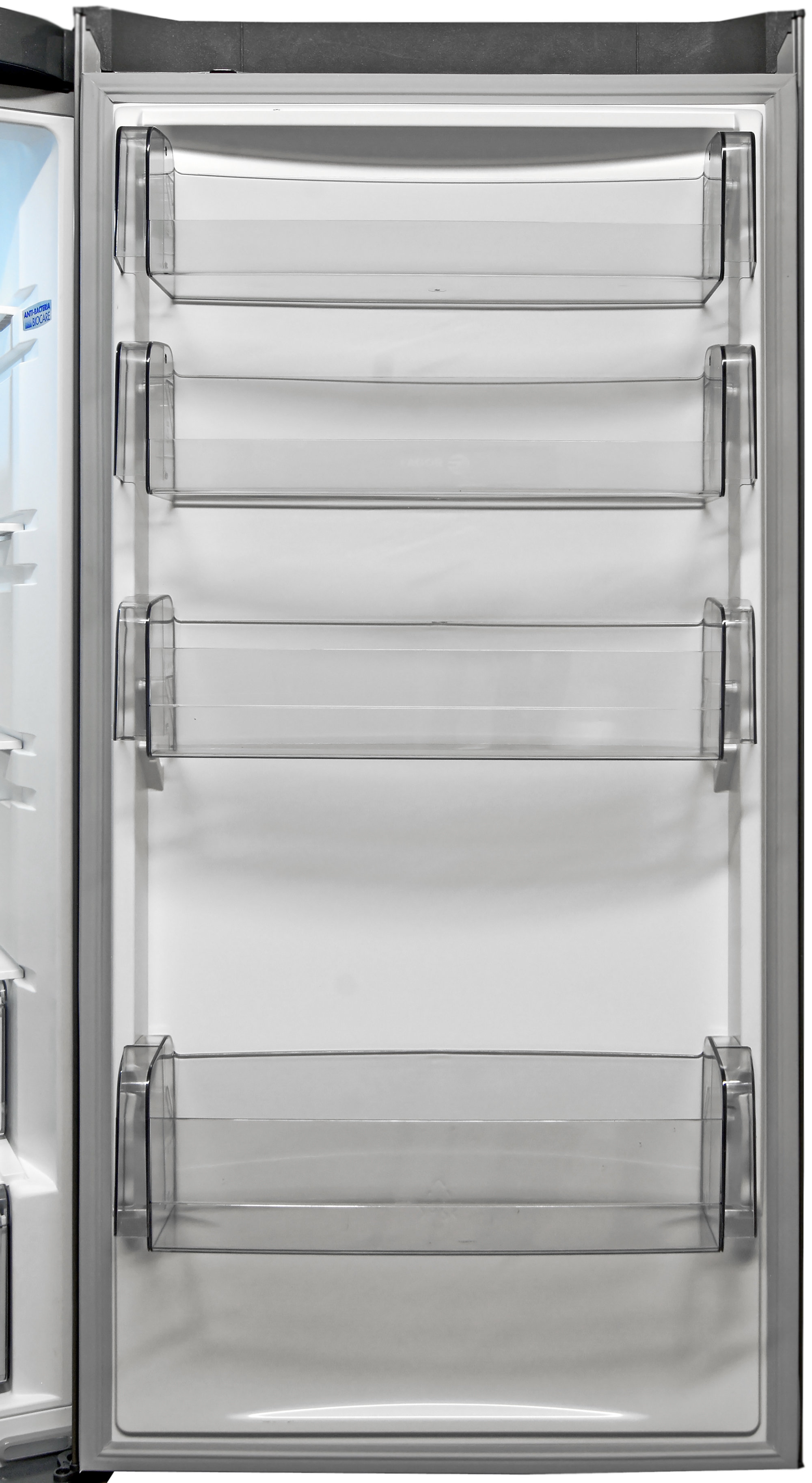 The Fagor FFJA4845X's fridge door has some extra storage space, but not a lot of customizable height options.