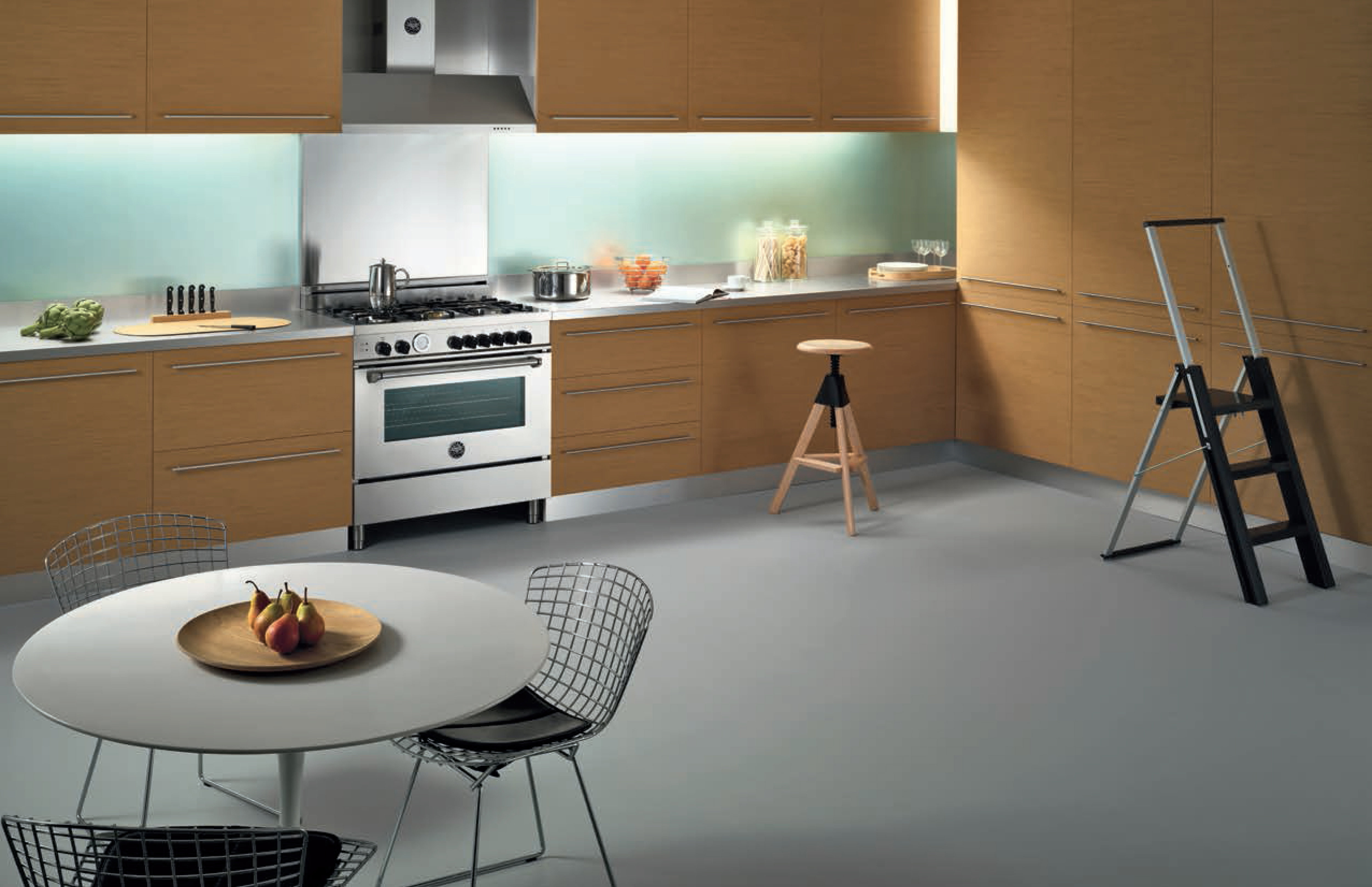 A transitional concept kitchen for Bertazzoni's Master Series.
