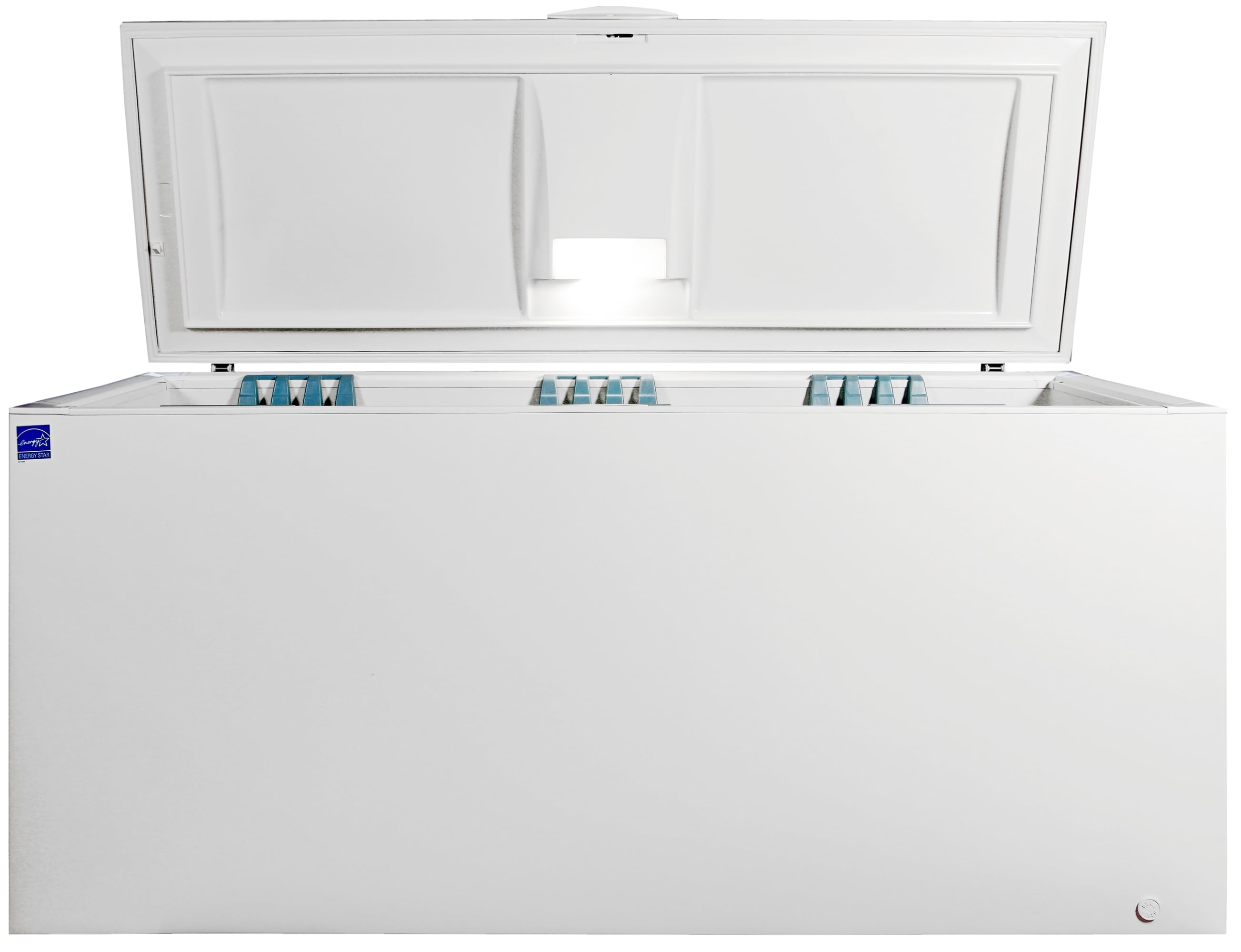 The light—while laughably small compared to the width of the Frigidaire Gallery FGCH25M8LW—does provide some small illumination.