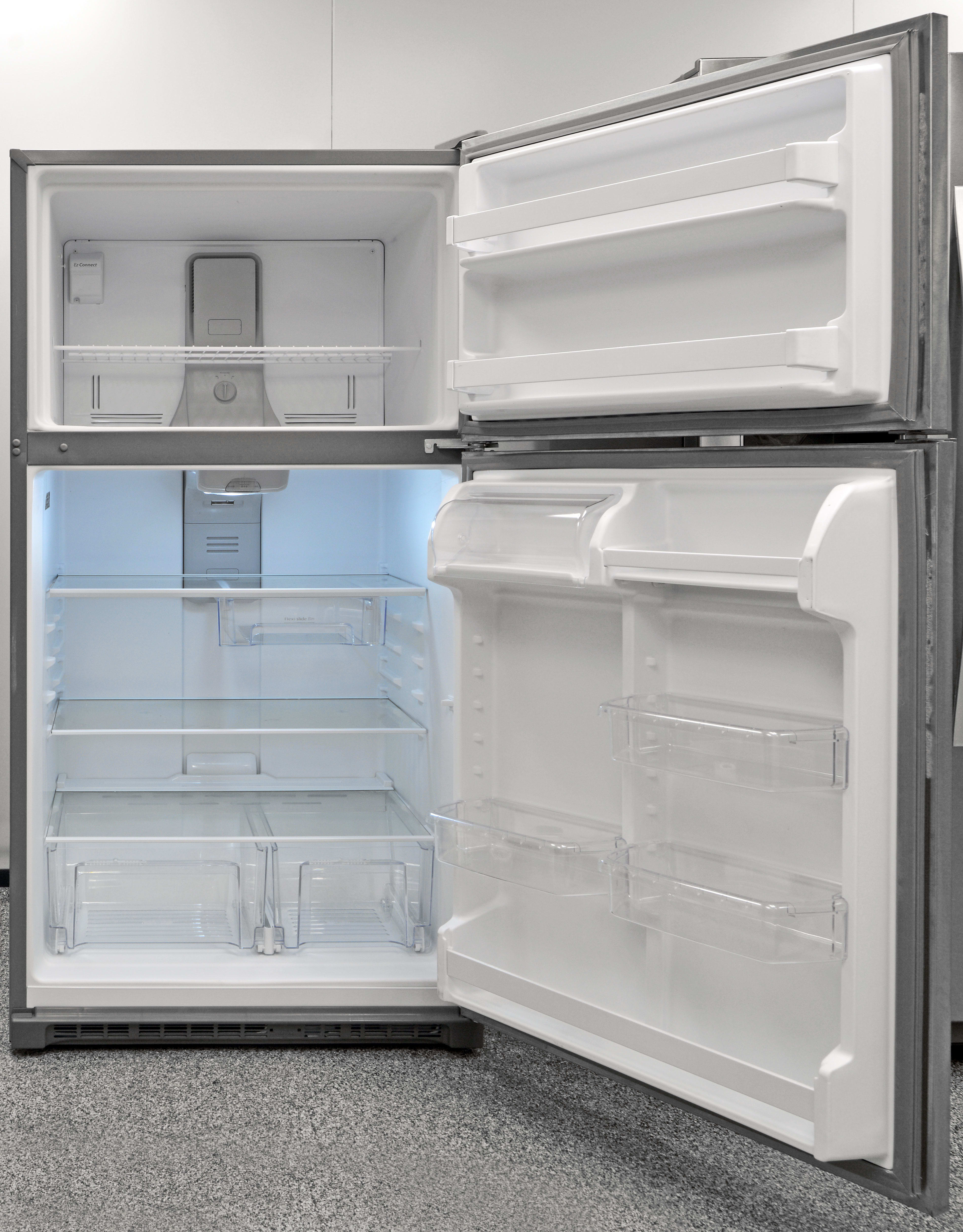 The Whirlpool WRT311FZDM's accessible, clean-looking interior is always a welcome sight in a fridge.