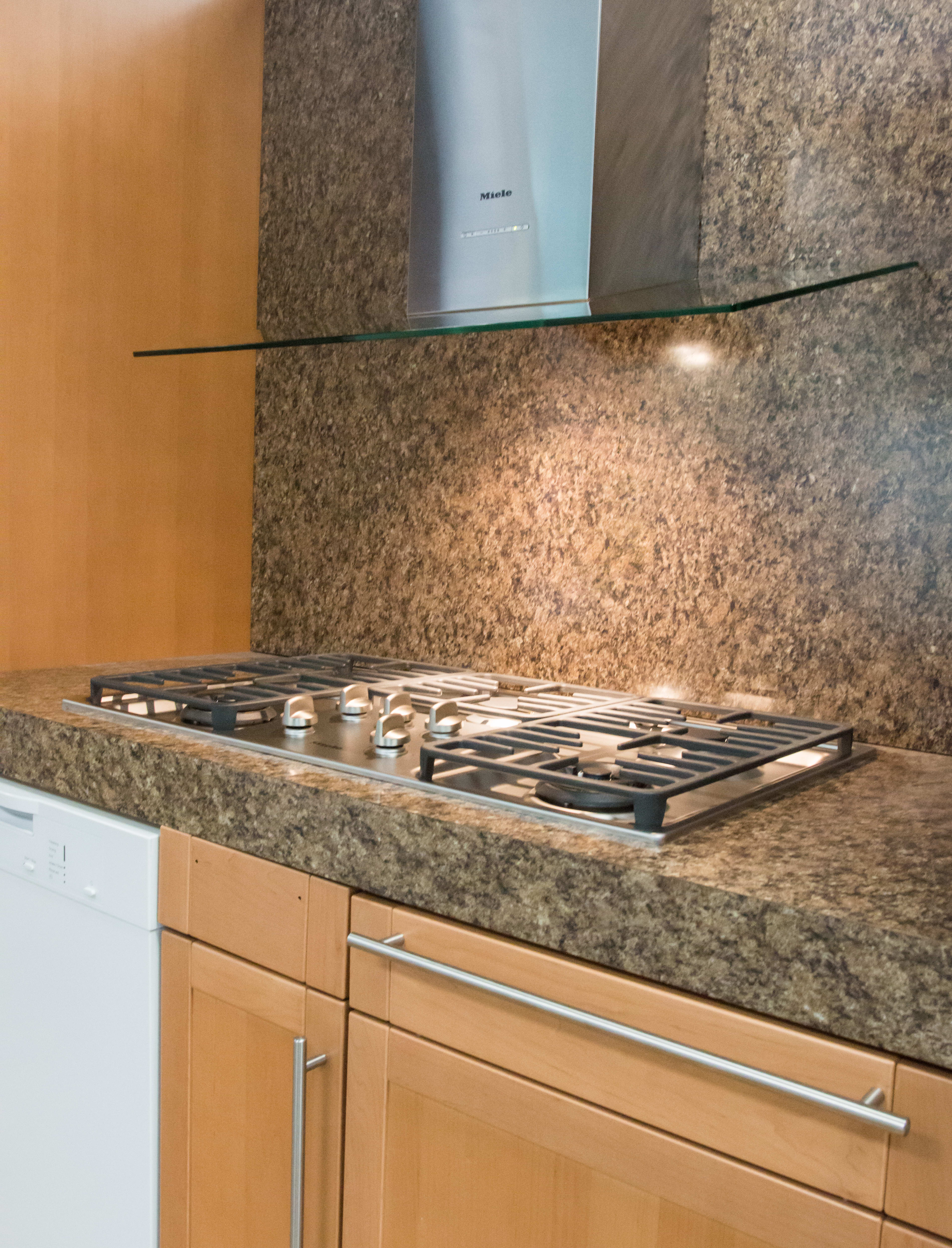 cooktop installed in kitchen
