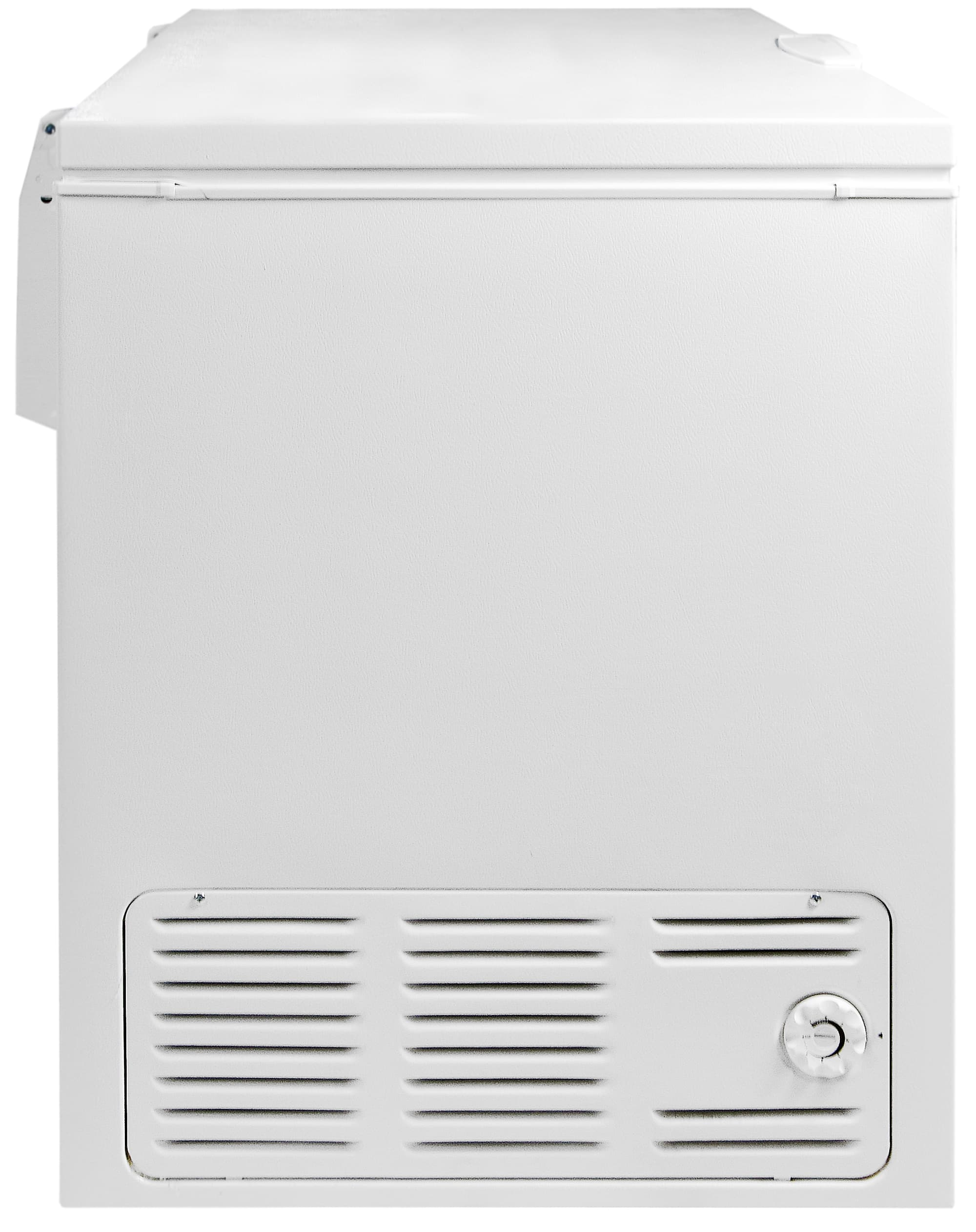 The controls are located on the left side of the Frigidaire Gallery FGCH25M8LW next to an air vent.