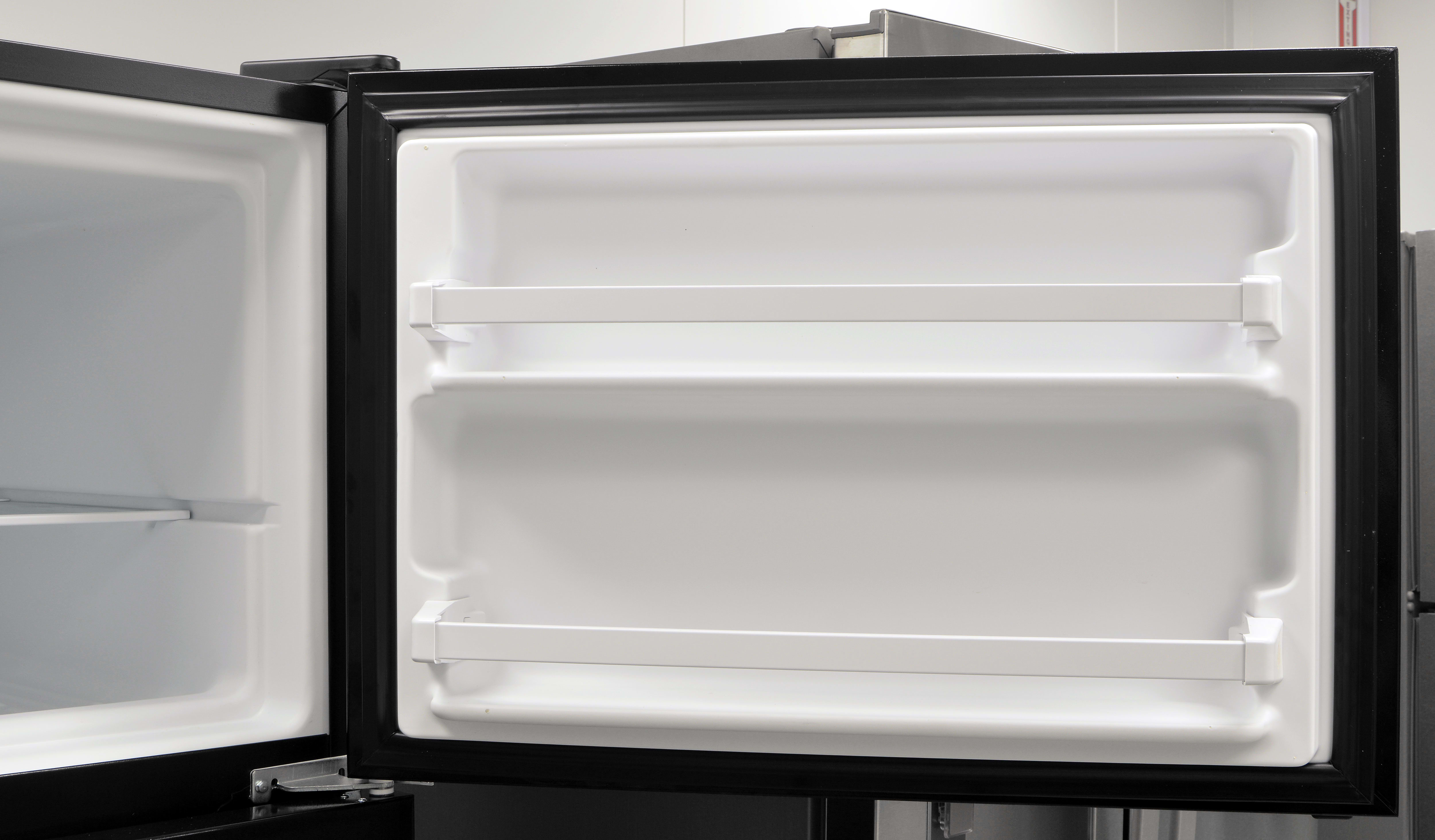 The Whirlpool WRT318FZDB's basic freezer door – seen one, ya seen 'em all.