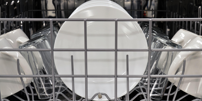 IKEA IUD7555DS front view of top rack