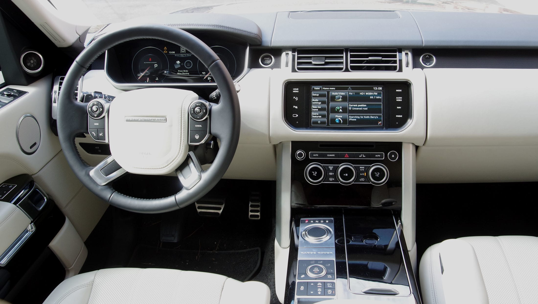Driver's view - range rover