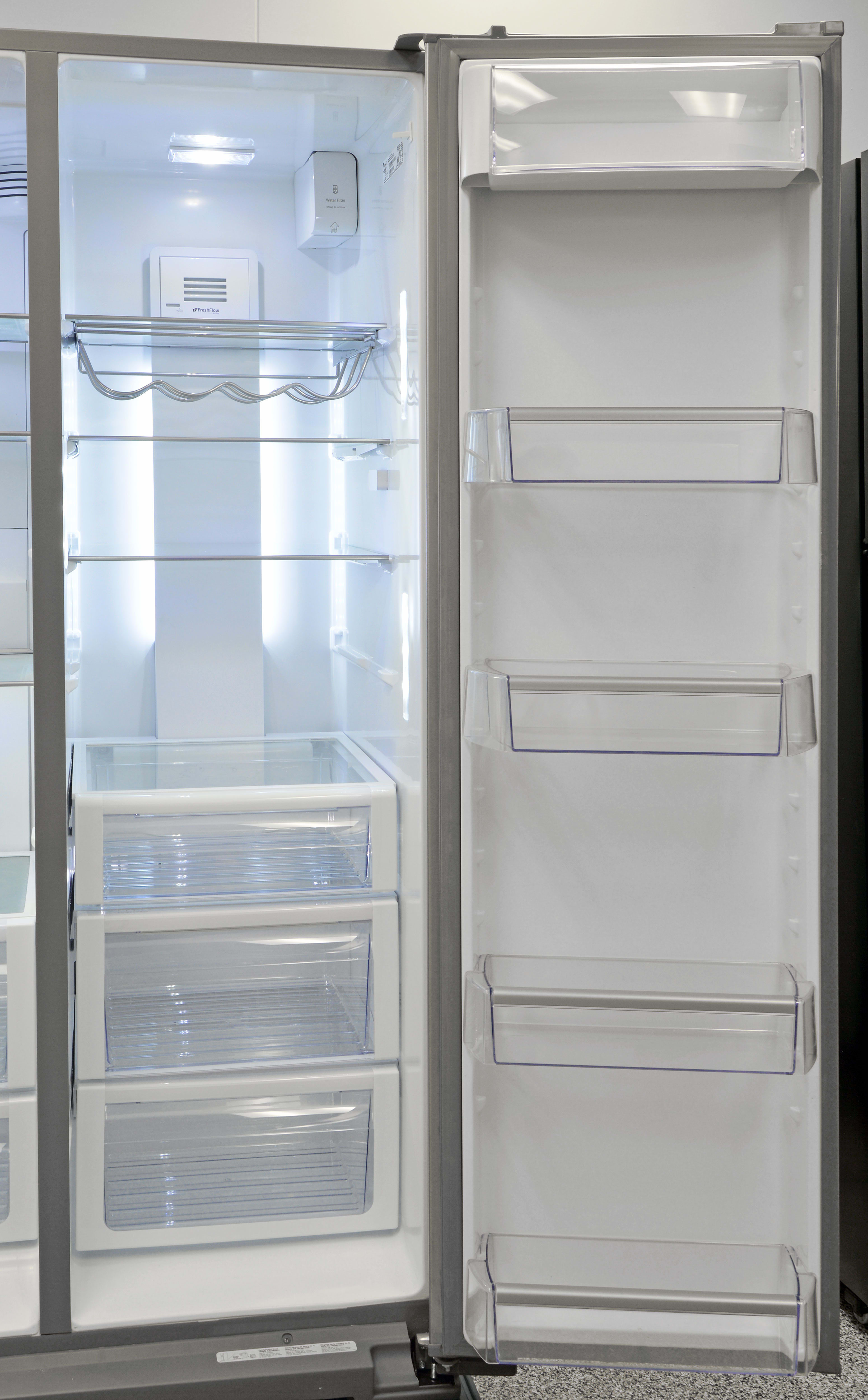 Lots of adjustable shelves allow you to compose the Whirlpool WRS975SIDM's storage layout as best fits your shopping habits.