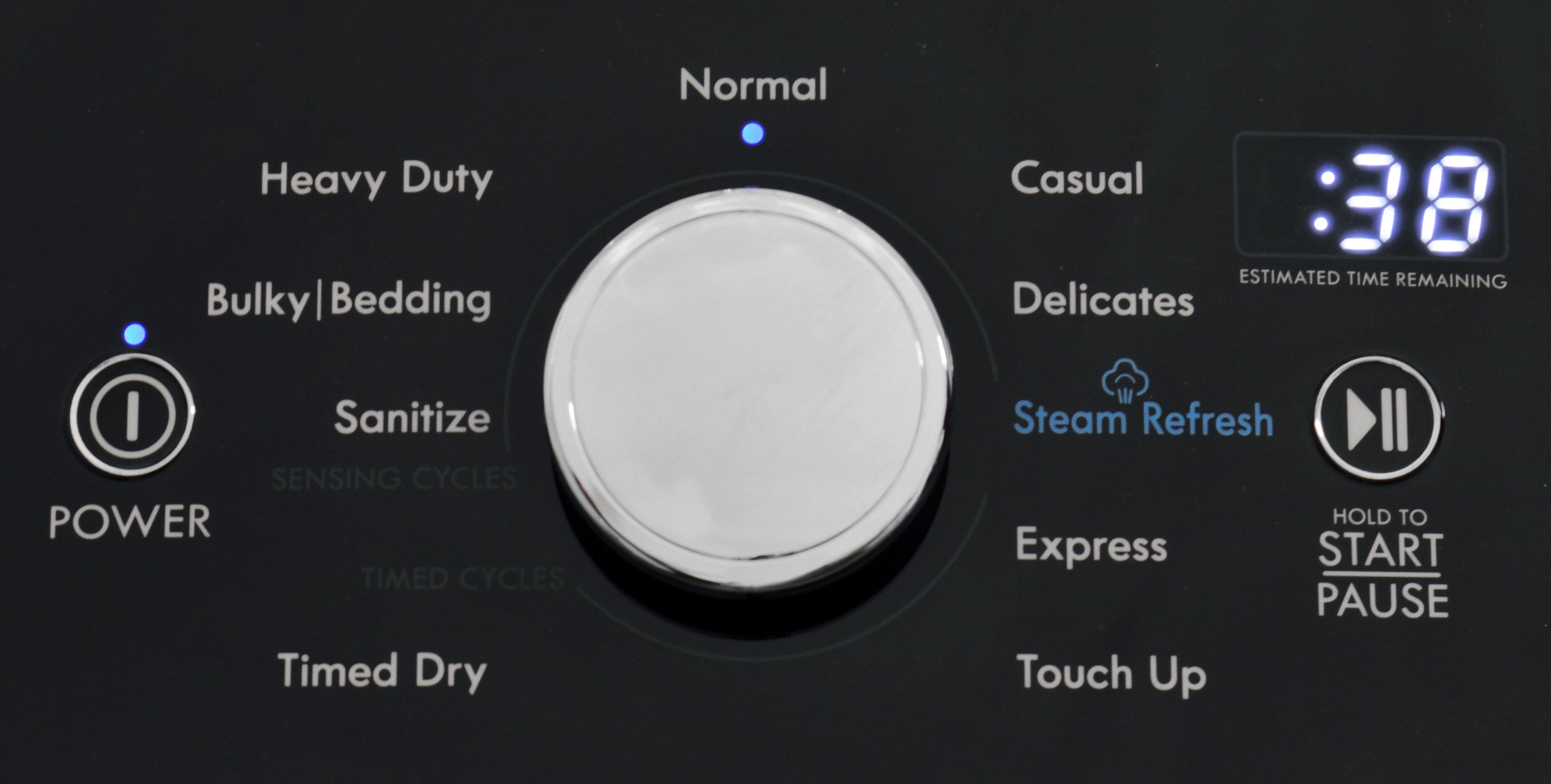 From Normal and Delicates to Steam and Sanitize, the Kenmore 69133 dryer offers a bevy of useful cycles.