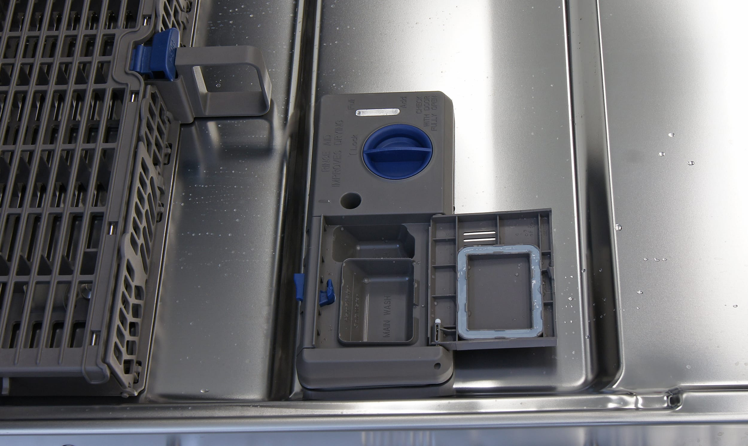 how to open rinse aid dispenser ge dishwasher