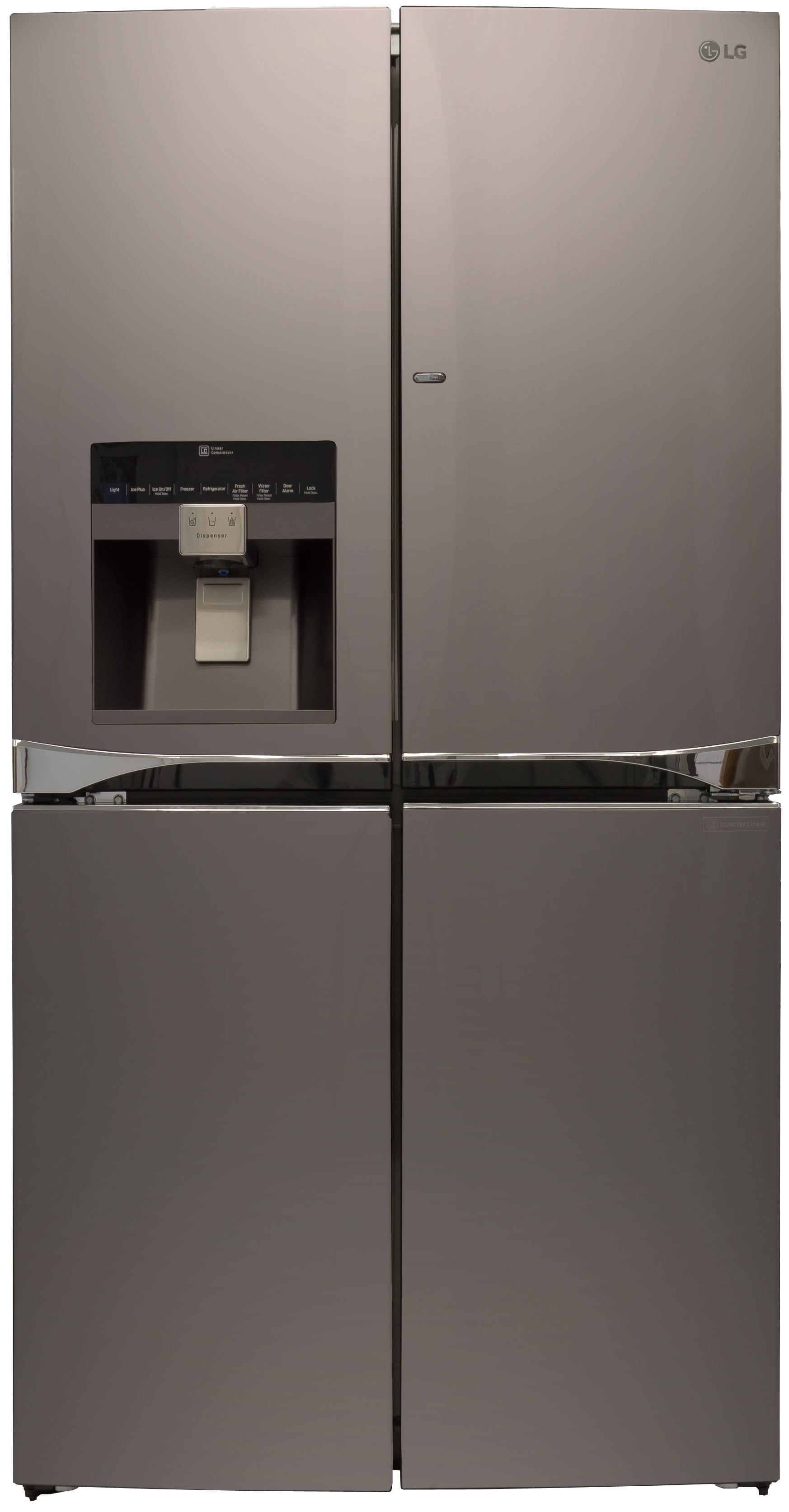 It's stainless, but not quite... the LPXS30866D four-door fridge is part of LG's new Diamond Collection.