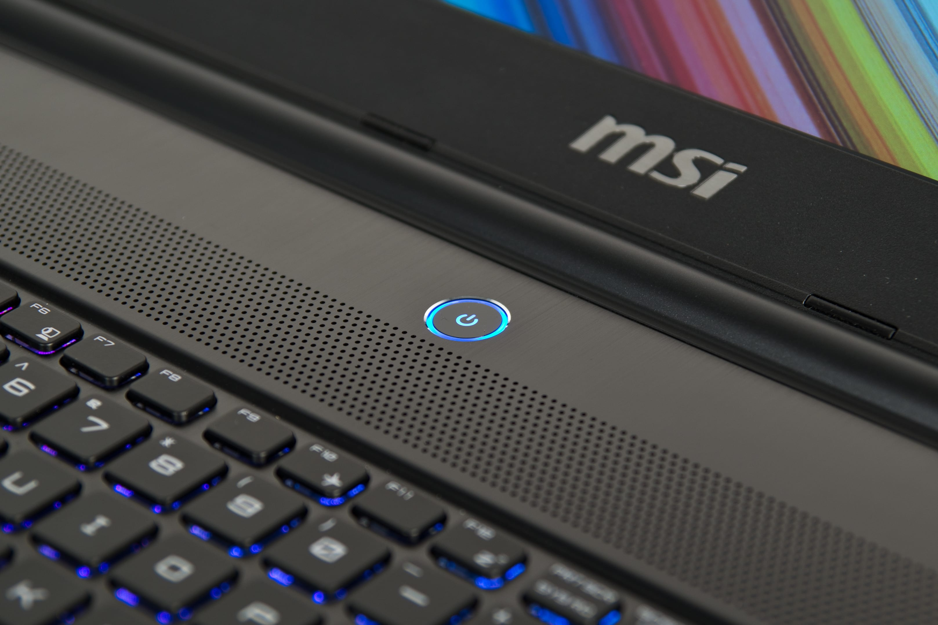 A picture of the MSI GS60 Ghost's power button.