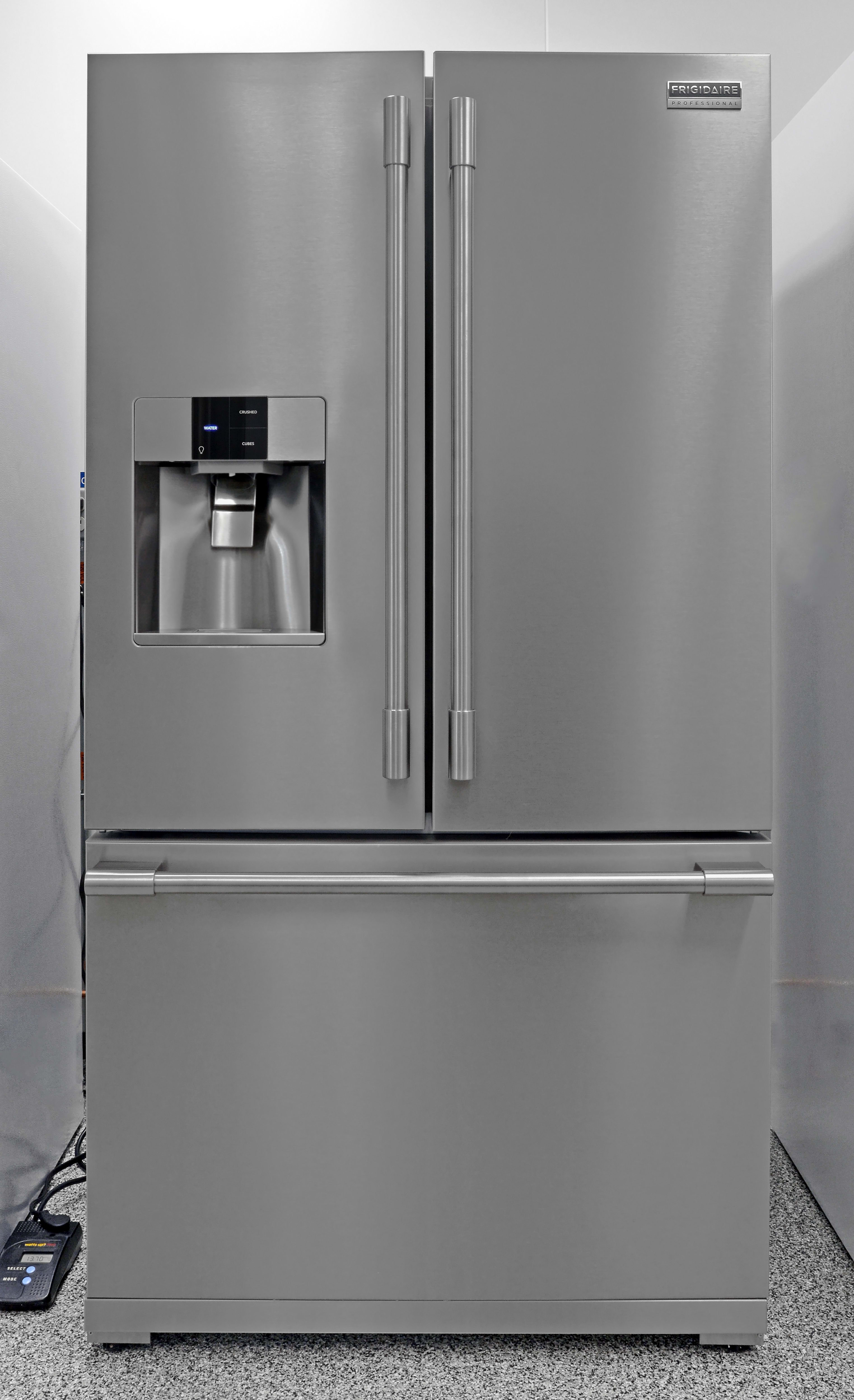 The counter depth Frigidaire Professional FPBC2277RF looks gorgeous, inside and out.