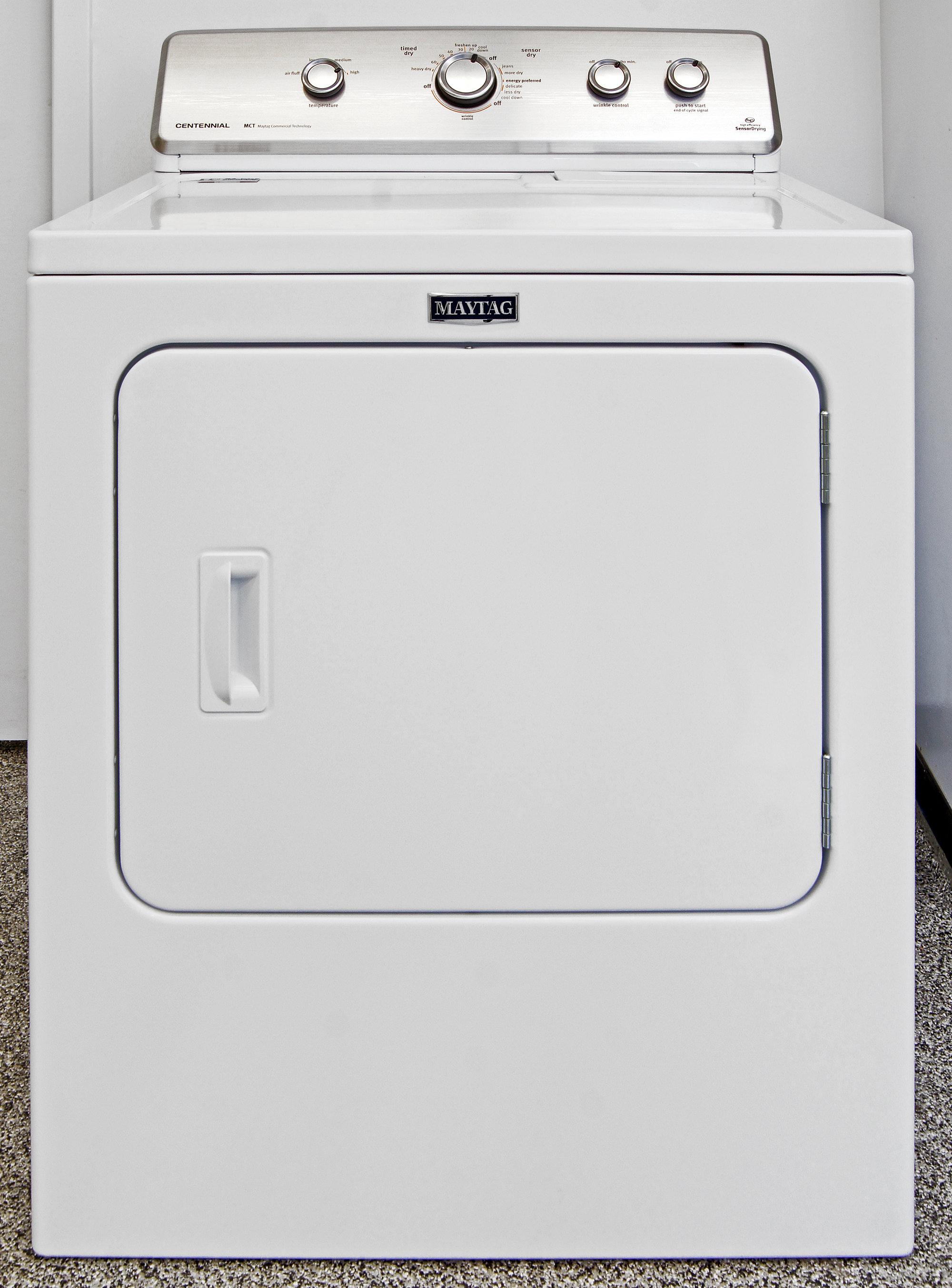The old-school Maytag Centennial MEDC555DW dryer is as straightforward as they come.