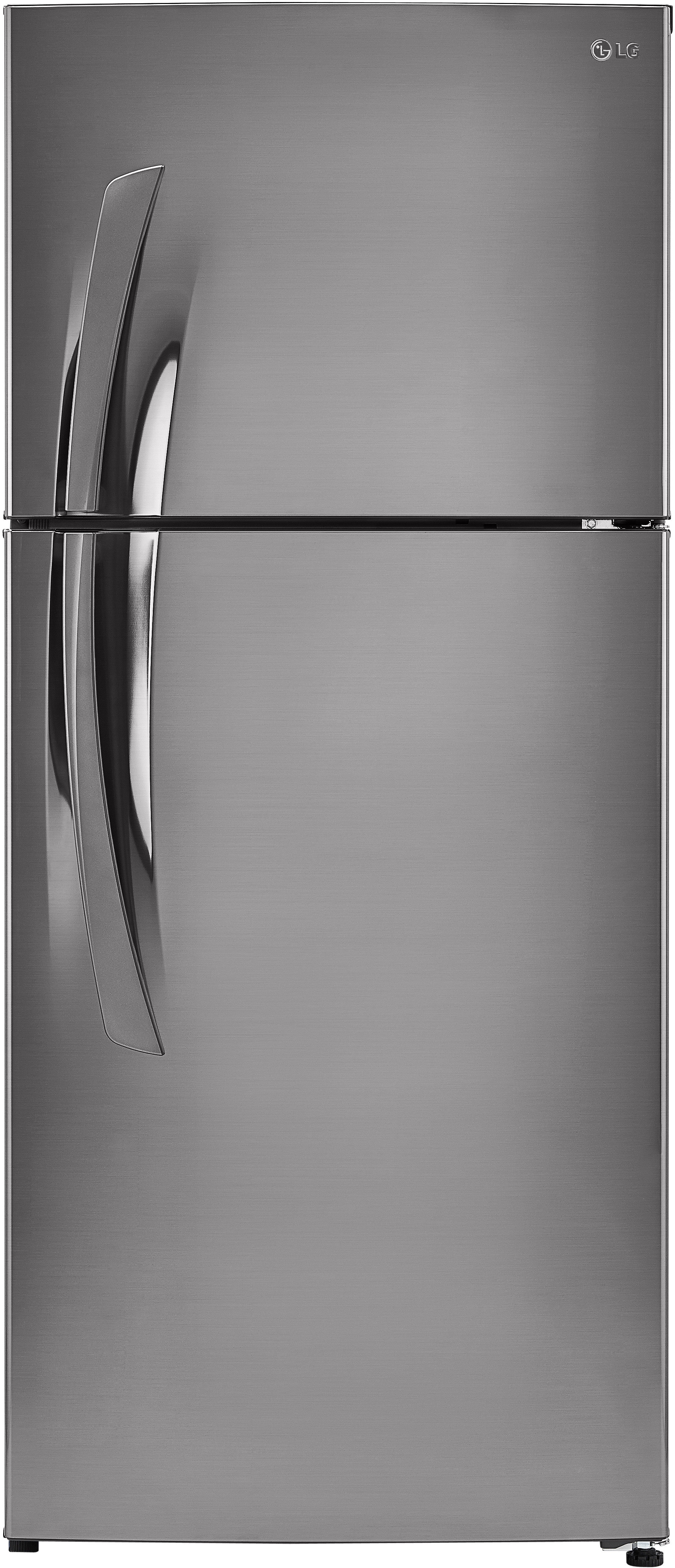 The 15.7-cu.-ft. LG LTNS16121V comes in something called a stainless vinyl coated metal finish.