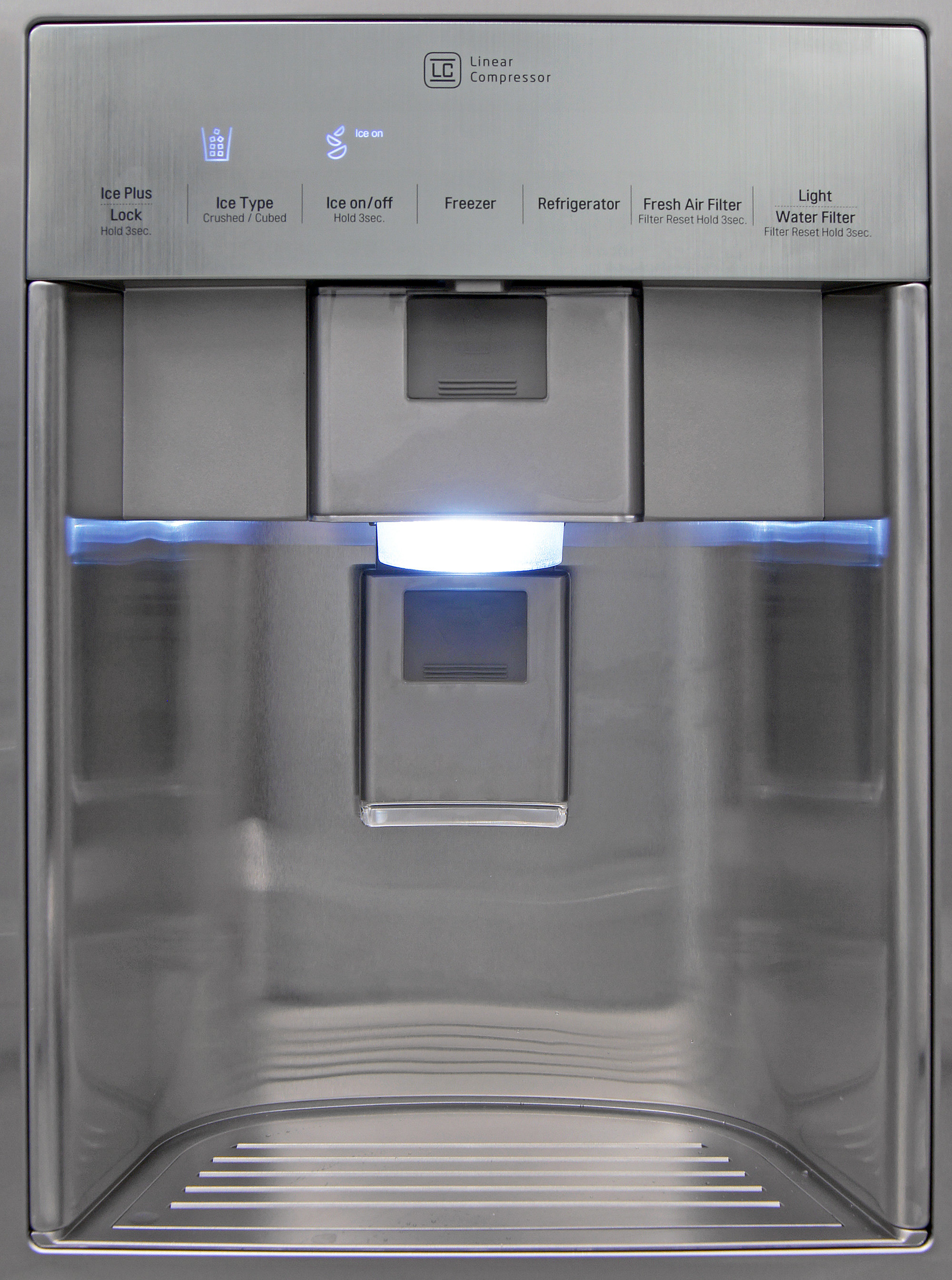 The LG LSC22991ST's dispenser is easy to use, and gives you enough height for a standard drinking glass.