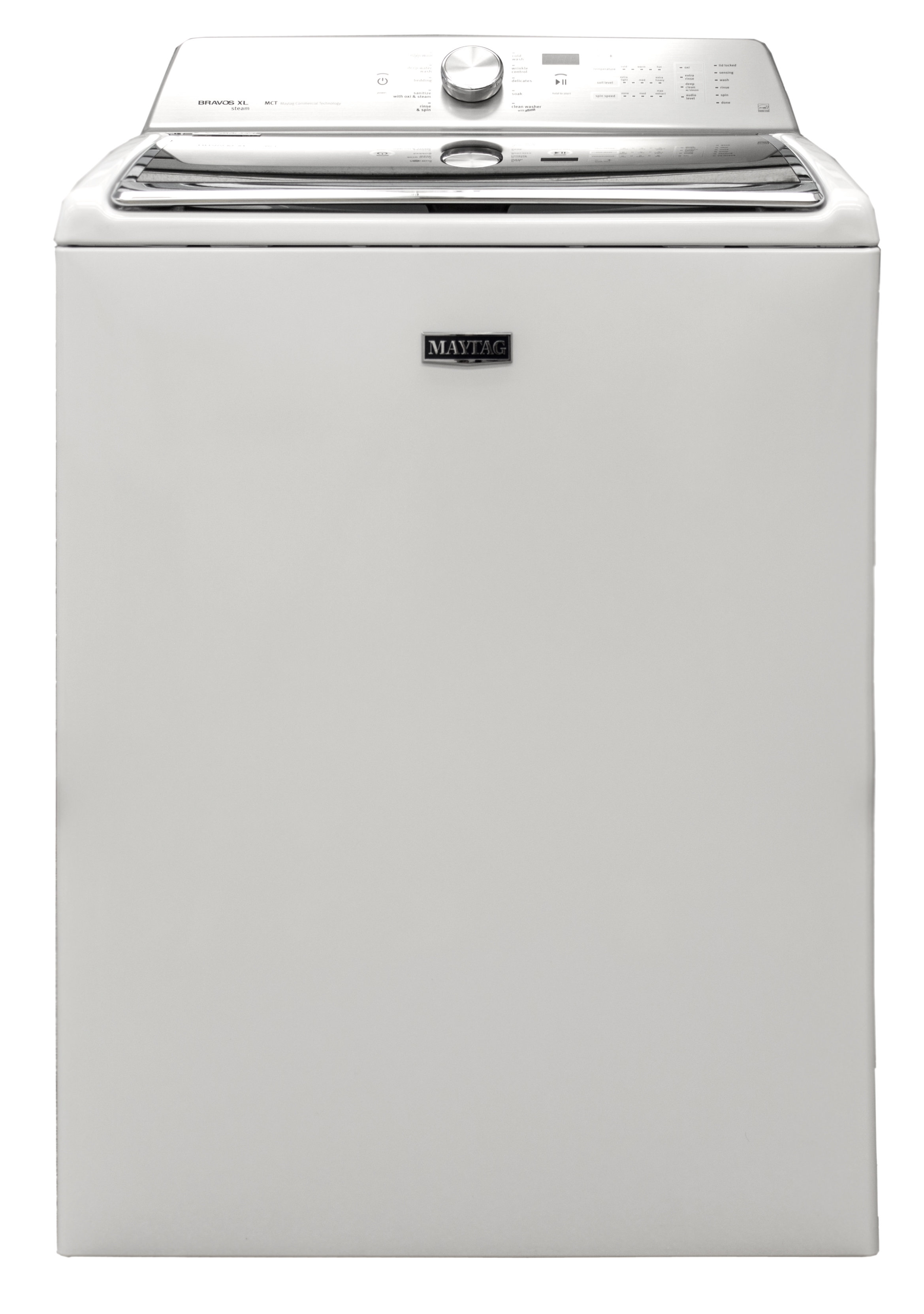The  Maytag MVWB855DW classes it up a bit with a silver accent.