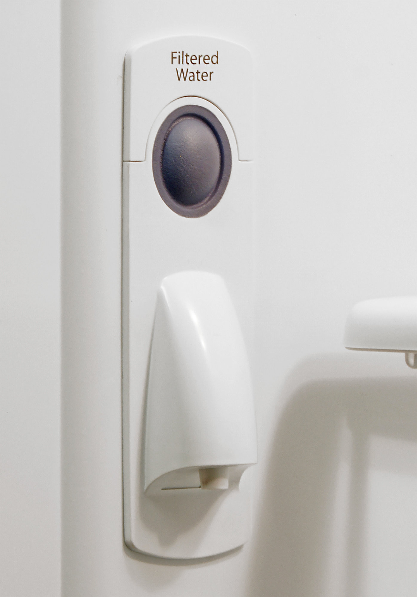 The unobtrusive water dispenser is found inside the Kenmore 72013.