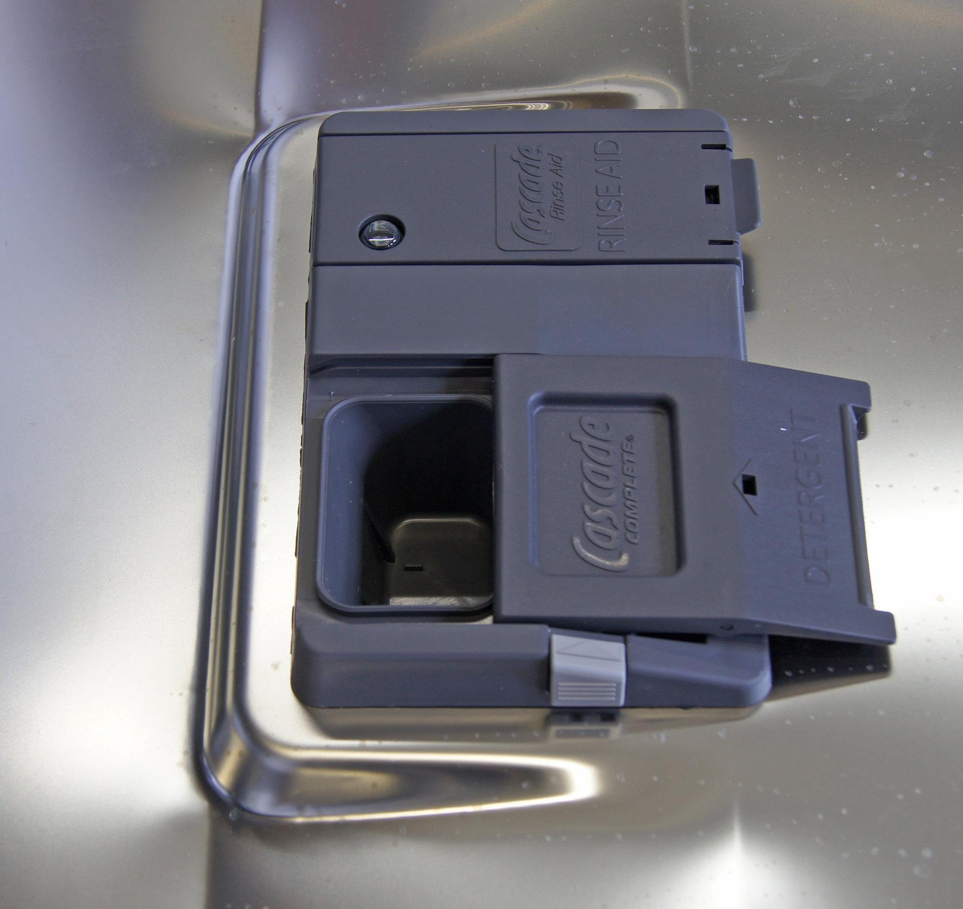 GE Cafe CDT725SSFSS detergent dispenser