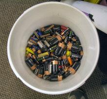 Bucket of Batteries