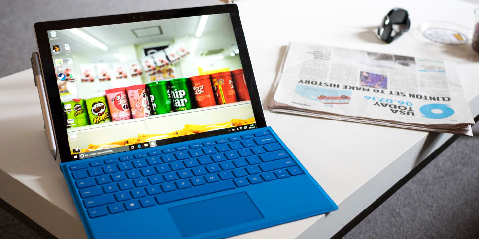 Microsoft Surface Pro 4 On Table
