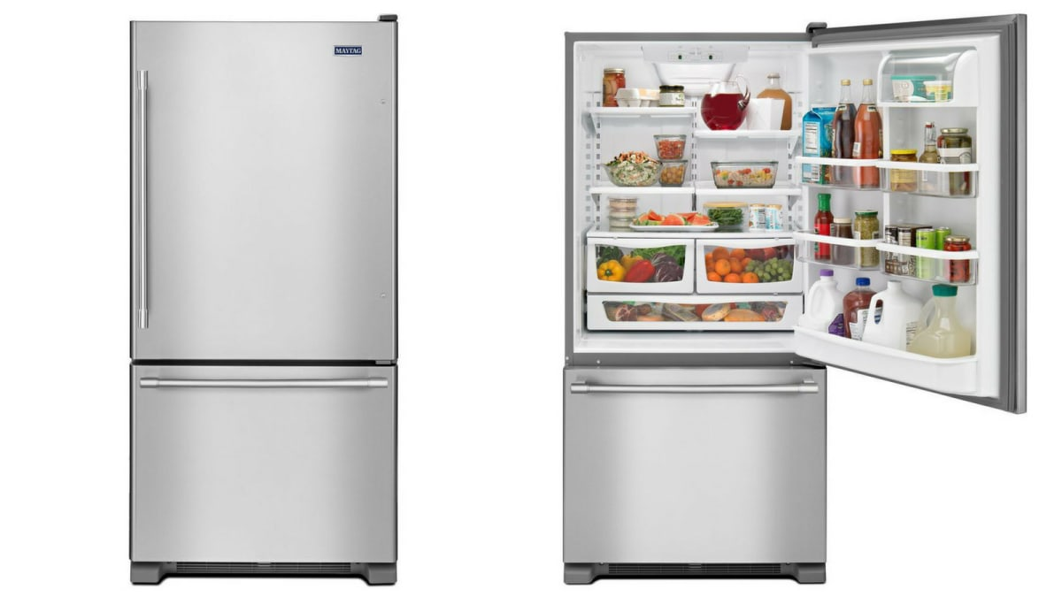 Maytag MBF2258FEZ Bottom-freezer Refrigerator review ...