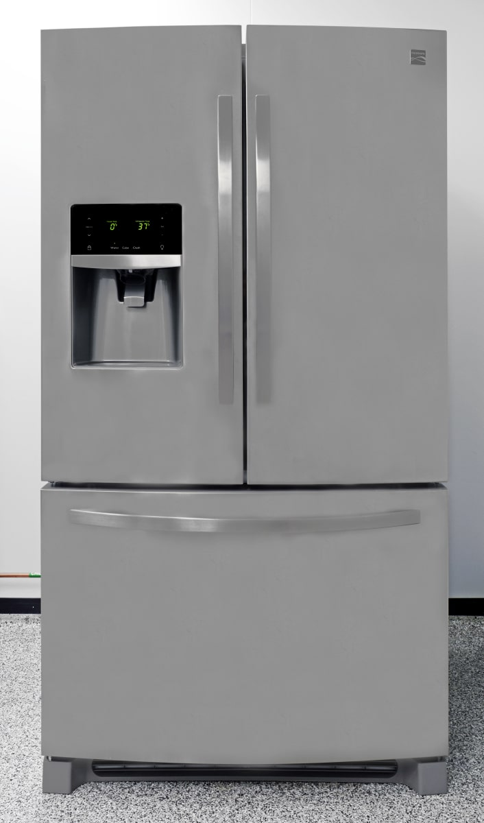 Kenmore 70343 refrigerator review reviewed refrigerators a basic stainless french door complete with ample storage and an easy to fingerprint finish rubansaba