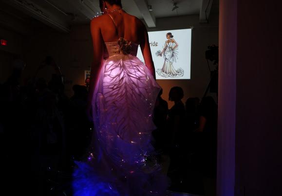 Biometric Bride: Detail in back