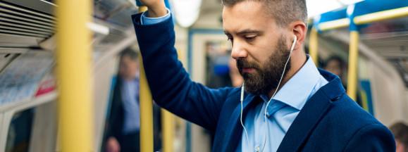 Headphones subway