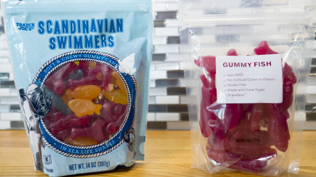 Brandless and Trader Joe's gummy fish