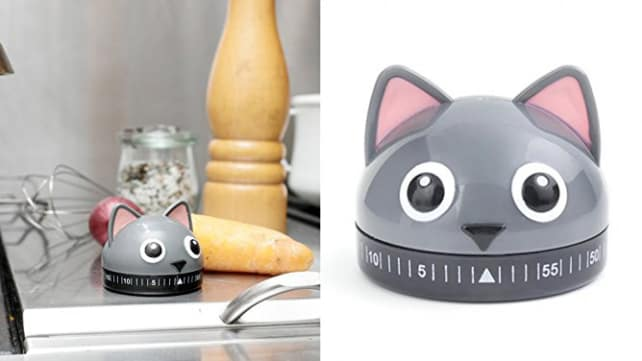 Kikkerland Kitty Kitchen Timer