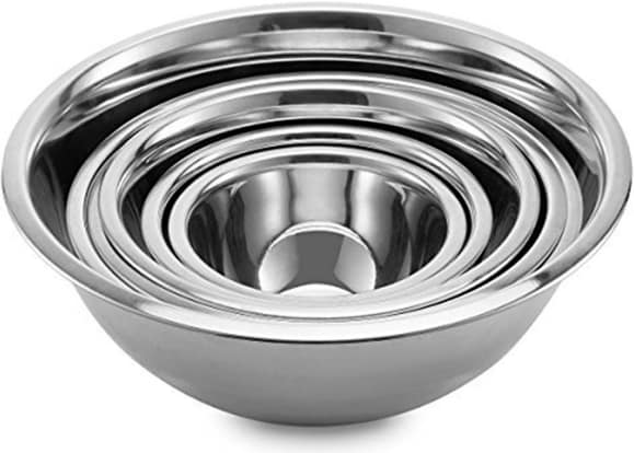 Product Image - Finedine Stainless Steel Mixing Bowls (Set of 6)