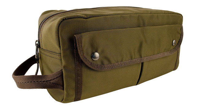 Ralph Lauren Mens Polo Military Nylon Toiletry Dopp Kit Bag