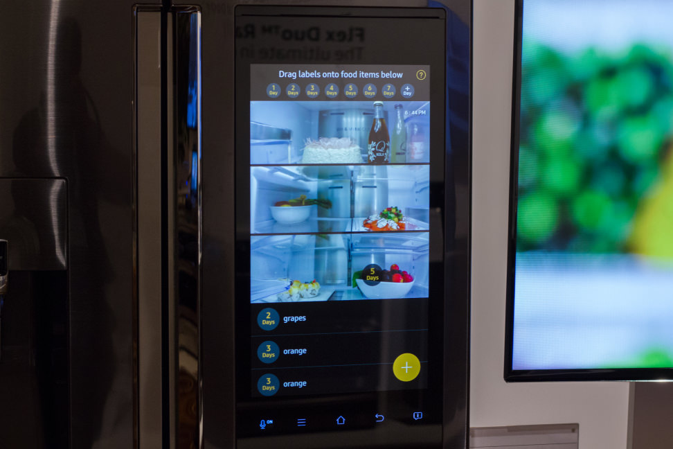 Samsung Family Hub Refrigerator Touchscreen