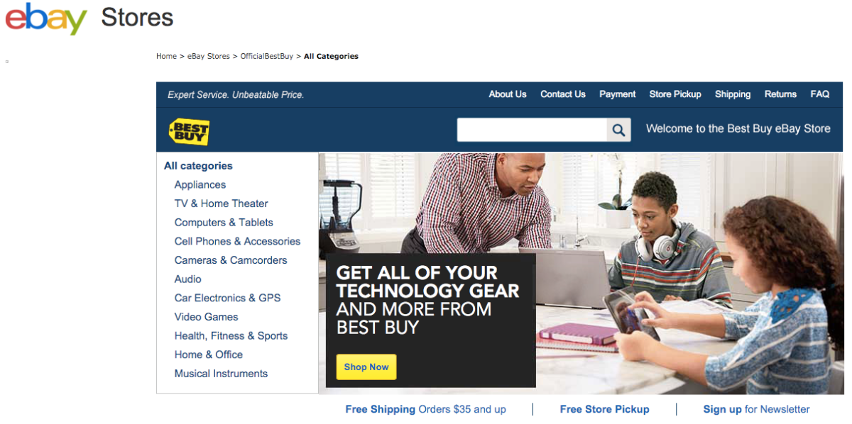 Best Buys Ebay Storefront Is Essentially A Miniature Version Of Bestbuy Com