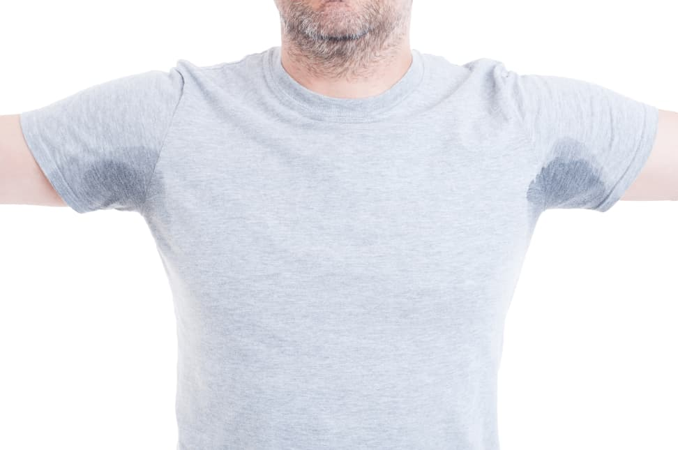 How to remove sweat stains and armpit stains from shirts for White stains on shirt after sweating