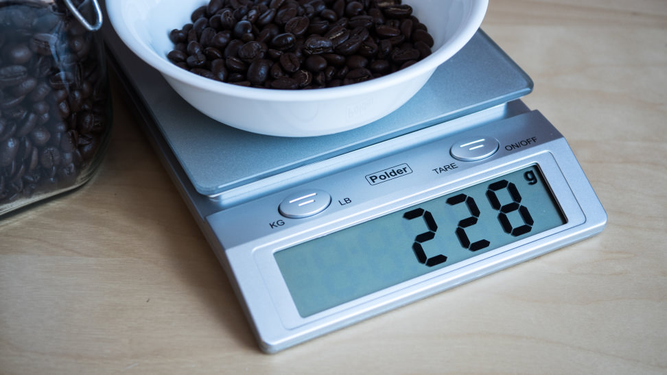 Polder KSC-310-28 Easy Read Digital Glass Top Scale