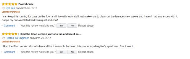Vornado 630 Amazon Reviews