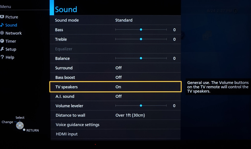 Panasonic-CX850-Sound-Menu