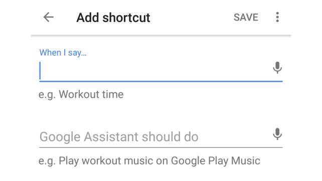 Google Home Shortcut Blank Formula